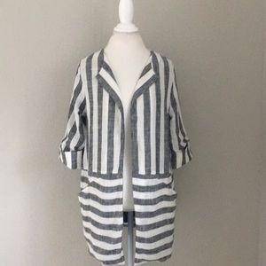 Anthropologie Eva Franco striped blazer size S